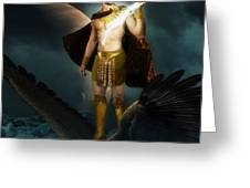 Zeus King Of The Gods Greeting Card by Pixl Vixl
