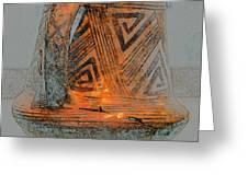 Zigzag Mug With Handle Greeting Card