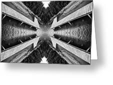 Zigzag Pier Illusion D Greeting Card