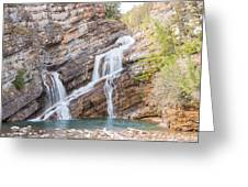 Zigzag Waterfall Greeting Card