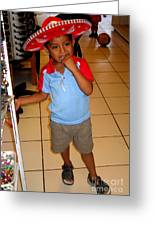 Zihuatanjo Boy In Red Hat Greeting Card