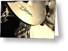 Zildjian Hi-hat Sepia Greeting Card