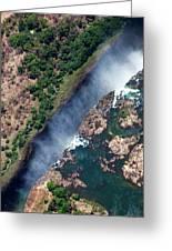 Zimbabwe, Victoria Falls Greeting Card