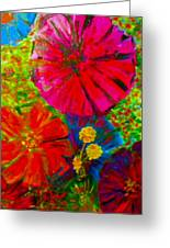 Zinnia Garden Greeting Card