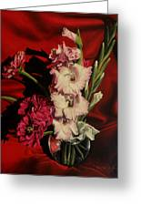 Zinnias And Gladiolas Greeting Card