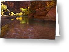 Zion Canyon Of The Virgin River Greeting Card