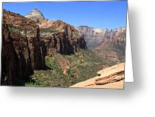 Zion Canyon Overlook Greeting Card