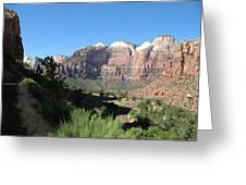 Zion Canyon View Greeting Card