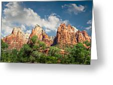 Zion Court Of The Patriarchs Greeting Card by Tammy Wetzel