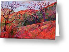 Zion Flame Greeting Card by Erin Hanson