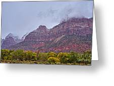 Zion In Clouds Greeting Card