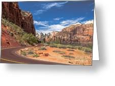 Zion Mount Carmel Highway Greeting Card