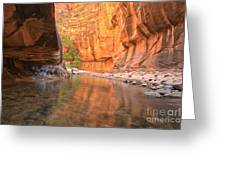 Zion Narrows Bend Greeting Card