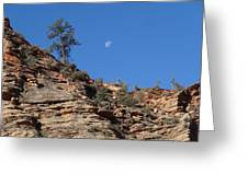Zion National Park Moonrise Greeting Card
