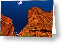 Zion National Park Oil On Canvas Greeting Card