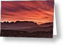 Zion National Park Panoramic Greeting Card