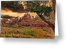 Zion National Park Work Of Art  Greeting Card
