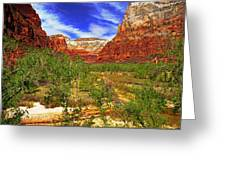 Zion Park Canyon Greeting Card