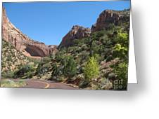 Zion Park Grand Arch Greeting Card