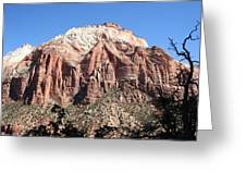 Zion Park Mountainscape Greeting Card
