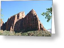 Zion Park Red Rocks Greeting Card