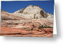 Zion Park - Rock Texture Greeting Card