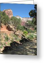 Zion Park - Virgin River Greeting Card