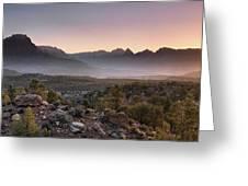 Zion Sunrise Greeting Card