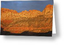 Zion Sunset Panorama Greeting Card