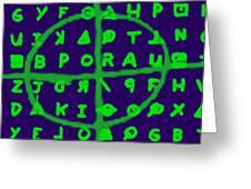 Zodiac Killer Code And Sign 20130213p128 Greeting Card