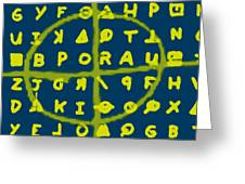 Zodiac Killer Code And Sign 20130213p68 Greeting Card