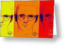 Zodiac Killer Three With Sign 20130213 Greeting Card by Wingsdomain Art and Photography