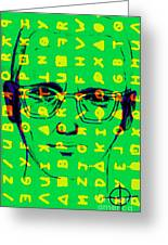 Zodiac Killer With Code And Sign 20130213 Greeting Card by Wingsdomain Art and Photography