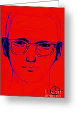 Zodiac Killer With Sign 20130213m128 Greeting Card