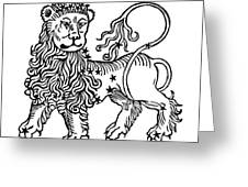 Zodiac Leo, 1482 Greeting Card