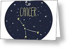 Zodiac Signs Doodle Set - Cancer Greeting Card