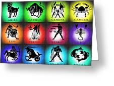 Zodiac Tile Chart Greeting Card
