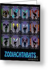 Zodiacatabats Greeting Card