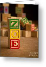Zoe - Alphabet Blocks Greeting Card