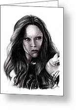 Zoe Saldana 2 Greeting Card by Rosalinda Markle
