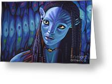 Zoe Saldana As Neytiri In Avatar Greeting Card