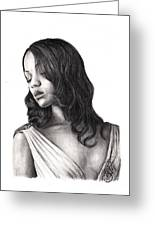Zoe Saldana Greeting Card
