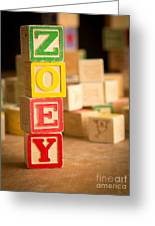 Zoey - Alphabet Blocks Greeting Card