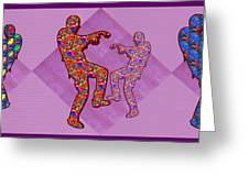 Zombie Funny Comic Cartoons Dance Zombie Dance Grand   36x12 Horizontal Landscape Energy Graphics Ba Greeting Card