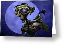 Zombie Head-hunter Greeting Card