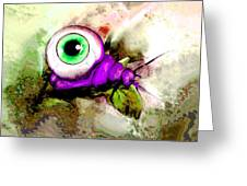Zombie Insect Greeting Card