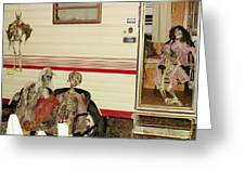 Skeleton Family Vacation Greeting Card