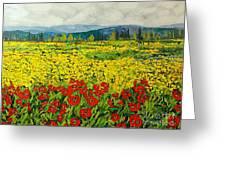 Zone Des Fleur Greeting Card