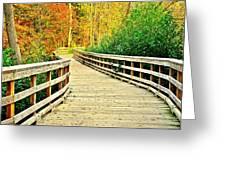 Zoom Zoom Walking Path Greeting Card