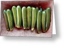 Zucchinis Greeting Card